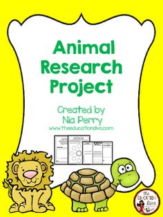 Animal Research Project This is an Animal Research Project that can be given to students who are learning about different animals. Students are to do research and then use this packet to record their answers answering the questions on the pages. The packet includes the following1 Cover Page1 Page of Animal Vocabulary Words1 Page about Animal Diet1 Page about Animal Habitat1 Page about Appearance/Characteristics1 Page about Geography1 Page Compare and Contrast1 Page Animal Bubble MapAnimal…