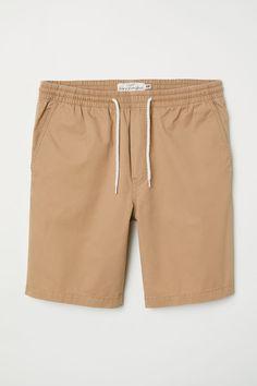 05ce40f922 Elasticized Cotton Shorts | Dark beige | MEN | H&M US Gym Shorts, Dark Beige