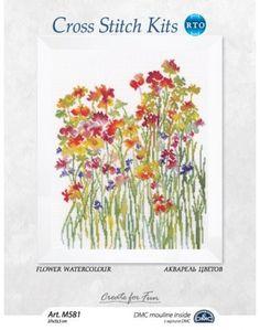 М581 Flower watercolour
