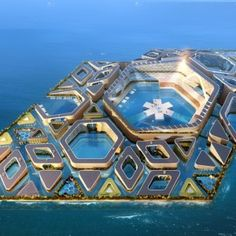Floating City concept by AT Design Office  features underwater roads and submarines