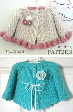 6c8f96dd752fc Knitting Pattern for Garter Stitch Baby JacketBaby cardigan knit in garter  stitch with options for knit