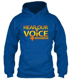 Hear Our Voice Women's March T Shirts   Royal Sweatshirt Front