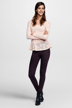 Pink lace peplum top. #HMDIVIDED
