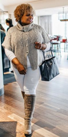 0baa330a2891a How to wear white pants in winter  plussizeoutfits  plussizewhitepants  White Jeans Winter