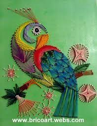 .String art parrot
