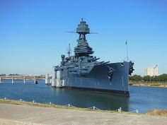 The only remaining dreadnought still afloat, USS Texas, was launched in 1912 and is now a museum ship at San Jacinto State Park, She made numerous sorties into the North Sea during World War I. When the United States formally entered World War II in 1941, Texas escorted war convoys across the Atlantic, and later shelled Axis-held beaches for the North African campaign and the Normandy Landings.