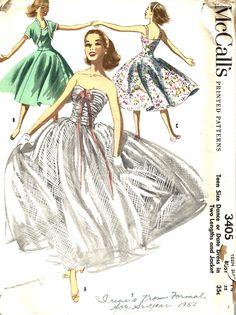 Vintage Sewing Pattern Dress Jacket McCalls 3405
