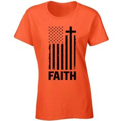 Usa Flag Faith T Shirt Top Shirt 4th of July Independence Day... ($9.99) ❤ liked on Polyvore featuring tops, t-shirts, white, women's clothing, american flag t shirt, bleached shirts, usa flag t shirt, checkered shirt and usa flag shirt