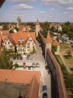 City walls of Rothenburg ob der Tauber. You can walk along the top of the walls!