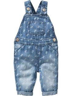 Floral Denim Overalls for Baby Product Image