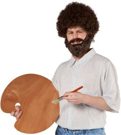 Bob Ross Wig and Beard Set .... lol <3 bob!