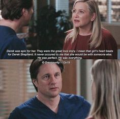 Grey's Anatomy: Arizona to Nathan about MerDer Greys Anatomy Frases, Greys Anatomy Funny, Grays Anatomy Tv, Grey Anatomy Quotes, Greys Anatomy Derek Dies, Derek Shepherd, Tv Show Quotes, Movie Quotes, Angst Quotes