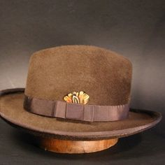 Chocolate Brown Fedora Hat for Men or Women, Archie Goodwin, Made to Order
