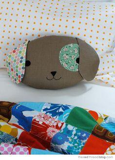 TUTORIAL :: Sew a cute puppy pillow softie