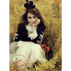Teen Vogue Editorial Happily Ever After, October 2011 Shot #3 - MyFDB ❤ liked on Polyvore featuring people, models, lily collins, pictures, backgrounds and editorials