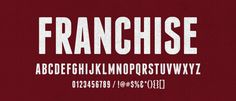 Free Font: Franchise | Lost Type Co-op