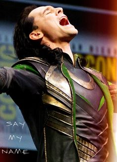 I know this is everywhere--Tom suiting up as Loki in order to destroy ComicCon--but... but... but...