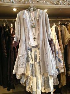Ewa jacket & skirt Magnolia top Adorne & Lori jewelry