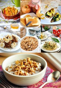 Lots of Crockpot Breakfast Recipes ideas that can be made overnight in the slow cooker! Perfect for feeding company during the holidays and busy mornings! Crockpot recipes for breakfast including make ahead casserole, oatmeal, french toast, burritos, and MORE! Mmmm... Love make ahead and overnight breakfast recipes! I love that these can cook while I'm sleeping and waking up to a warm, already-made breakfast!