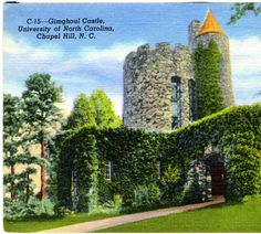 Gimghoul Castle, University of North Carolina, Chapel Hill, N.C. :: North Carolina Postcards