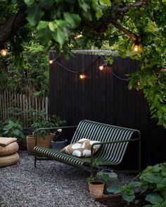 Little garden nook 🌿 Outdoor Spaces, Outdoor Living, Outdoor Decor, Back Gardens, Outdoor Gardens, Garden Furniture, Outdoor Furniture Sets, Antique Furniture, Rustic Furniture