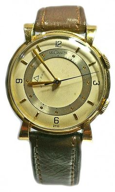 Antique Watch Uk Jaeger Lecoultre memovox alarm wristwatch dated 1950s