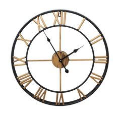 Large Modern Wall Clock - Krafts Gold | The Fancy Place Skeleton Wall Clock, Vintage Bedroom Styles, Vintage Style, Oversized Clocks, Gold Home Decor, Led Wall Lamp, 3d Printer Supplies, Design Moderne, Modern Wall