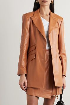 The 25 Best Leather Coats for Women, From Puffers to Jackets Leather Trench Coat, Leather Blazer, Faux Leather Jackets, Leather Coats, Loose Fit Jeans, Denim Trends, Spring Jackets, 90s Fashion, Vegan Leather