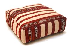 ottoman pouf Berber pillow Ottoman Kilim Pouf by Beniouraincarpets