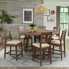Valaria 7piece Dining Set G Rock in 2019 7 piece
