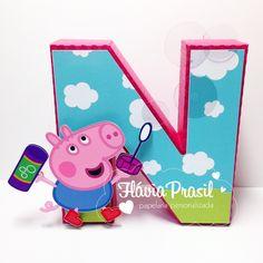 Letra 3D Peppa -  George Pig