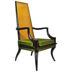 Unique Sculpted Tall Back Chair | From a unique collection of antique and modern chairs at https://www.1stdibs.com/furniture/seating/chairs/