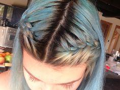 Braided triple tone dyed hair