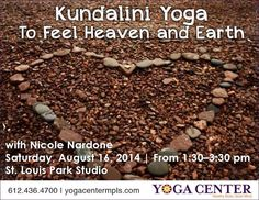 Kundalini Yoga Workshop: According to the yogis, the heart is one of the most important energy centers we have. It's where heaven meets earth, in YOU. There are three chakras below and three above. The chakras below keep us rooted and grounded. They allow us to walk on the earth constantly and consistently. The three chakras above connect us to the greater spiritual forces of the Universe. They allow us to tap in to the more subtle realms. No experience necessary.