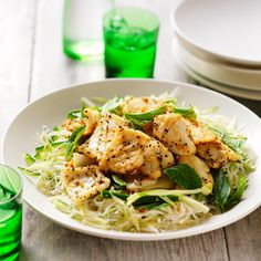 Salt and pepper squid with noodle salad Recipe | Weight Watchers AU