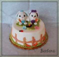 A easter cake for a jumble sale.  Cake by BarbaraInSweetland