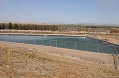 Nezahualcóyotl, Méx. 18 Julio 2013. Dentro de la Ciudad Deportiva de Neza hay cuatro estanques para recabar agua pluvial, que supuestamente es usada para el riego de las áreas verdes del lugar.