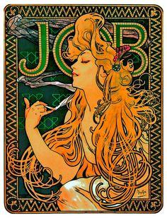 """JOB"" 1896, affiche de Mucha"