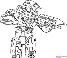 Halo Energy Sword Coloring Pages 27 300x231