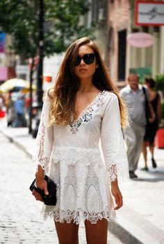 Simple hippy chic, would maybe loose the black bra.