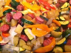 """""""Point-less"""" Meals: Oven-Roasted Sausage and Vegetables"""