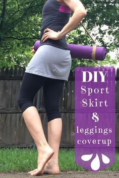 be6ae840bb DIY Tutorial DIY Workout T-shirts / DIY Sports Skirt & Leggings coverup  from an old t-shirt - Bead&Cord