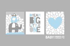 Baby Boy Nursery art Set of 3 8x10. Heart by babyartprints on Etsy, $12.00