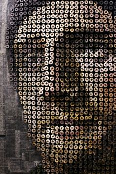 Curiosities: Screwy Portraits created by artist Andrew Myers via slightly warped curiosities