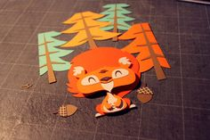 Squirel - Paperframe by Tougui 1, via Behance