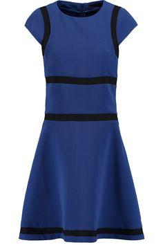 KARL LAGERFELD Mesh-Paneled Crepe Dress. #karllagerfeld #cloth #dress