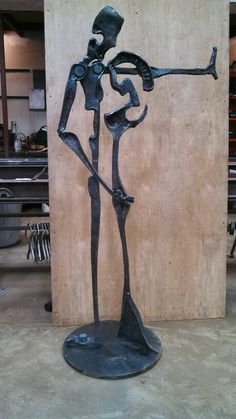 A team of smiths with Jake James forged this beautiful piece.