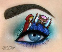 An Israeli #makeup artist, Tal #Peleg, makes miniature #paintings on eyelids and shows that a little #eyeshadow and some #eyeliner can go a long way. The entire eye and face becomes an unbelievable #portrait that displays some #amazing feeling and detail!