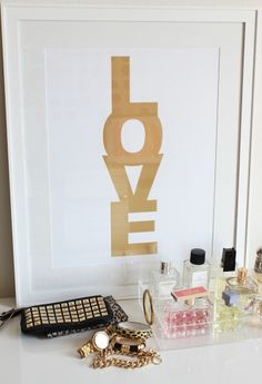 "Love this print by ""Made by Girl"". Only $35.00. Also comes in other colors. I think I'm going to order the gold. It's suitable for every room. Sincerely, JoAnne Craft"