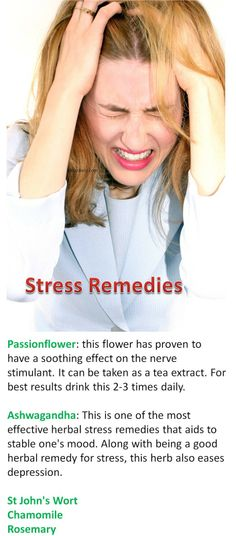Know Stress Symptoms - Natural Remedy to Cure it with Herbs